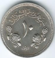 Sudan - AH1387 (1967) - 10 Qirsh - KM35.1 - Only 7,834 Minted - Sudan