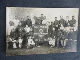 CARTE-PHOTO D'UN GROUPE DE MARECHAUX-FERRANTS (marechal Ferrant) LORS DE LA CAMPAGNE 1914 - Oorlog 1914-18