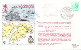 1982 Flown Cover,   The Task Force To The Falkland Islands , British Force Postmark - 1952-.... (Elizabeth II)