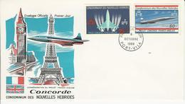 FDC-Nouvelles Hébrides-1968-Concorde - FDC
