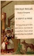 CHROMO CHOCOLAT POULAIN LE LOUP ET LA VIEILLE - Poulain