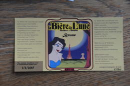 ETIQUETTE BIERE BIERE DE LA LUNE BRUNE - Bière