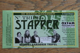 ETIQUETTE BIERE DEN TRIEST STAPPER TRIPEL - Bière