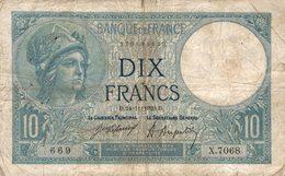 15889  BILLET FRANCAIS 10F DU 24-11-1920 - Sonstige