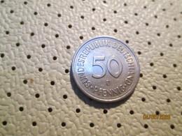 GERMANY 50 Pfenning 1979 D   # 2 - [ 7] 1949-… : RFA - Rep. Fed. Alemana