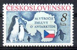 TCHECOSLOVAQUIE. N°2886 De 1991. Traité Sur L'Antarctique. - Tratado Antártico