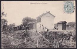 LOCHES Sur OURCE - ( 10 - Aube ) - La Gare ( Quai Animé , Personnes , Train ) - TTB Etat - Autres Communes