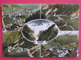 Suisse - Valais - Trient - En Avion Au-dessus De ...  - Recto Verso - VS Valais