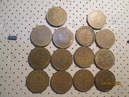 GERMANY 10 Pfenning 14 Coins 1950 1967 19 1985 1995 1981 1972 1990 1989 1967   # 2 - 10 Pfennig