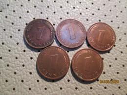 GERMANY 1 Pfenning 7 Coins 1949 1991 1969  1985  1980 1989 1994    # 2 - [ 7] 1949-… : RFA - Rep. Fed. Alemana