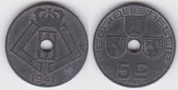 LOT23  LEOPOLD III  5 CENTIMES ZINC TYPE JESPERS  1941 Française/Flamande - 1934-1945: Leopold III