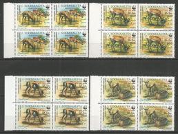 4x SOMALIA - MNH - Animals - Wild Animals - 1992 - WWF - Overprint - Francobolli