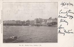 Vintage B&W 1904 - Sydney Cape Breton Nova Scotia - Folded Corner - Undivided Back - 2 Scans - Cape Breton