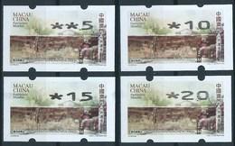 MACAU 2009 WORLD HERITAGE REPRINT ISSUE ON NAGLER MACHINE X 4 VALUES - 1999-... Chinese Admnistrative Region