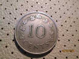 MALTA 10 Cents 1972    # 2 - Malta