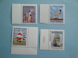 1987 88 Argentine  Yv 1598/0 + 1650 ** MNH Sport - Michel 1893/5 + 1946  Scott 1599/01 + B134 Bateaux - Neufs