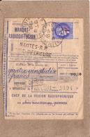 LOIRE ATLANTIQUE - NANTES - MANDAT RADIODIFFUSION , 1 F SUR 2F25 CERES - 1941 - Radiodiffusion