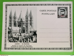 Carte Postale, 50c +25c Barre 40C, Tournai, La Cathédrale - Tournai