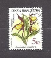 Czech Republic 1997 ⊙ Mi 137 Sc 3007 Lady Slipper. Flowers, Geschützte Pflanzen. Tschechische Republik C5 - Used Stamps