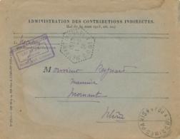"""Obl CORRESPONDANT POSTAL """" MORNANT ( RHÔNE ) CP N°1 1/5/34 """" Poste Automobile Rurale Lettre Contributions Imprimé - Marcophilie (Lettres)"""