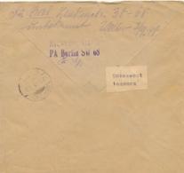 """Etiquette """" UNBEKANNT INCONNU """" + """"  Marques De Retour Sur Lettre Obl GANDON 6f X 3  - 1948 - Storia Postale"""