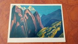 "Nicholas Roerich - ""Ticher's Shadow"" - Tibet - HIMALAYA - Tibet   - Old USSR PC 1974 - Tibet"