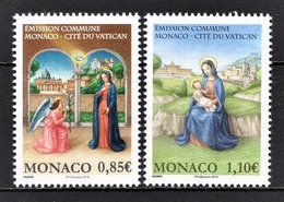 MONACO 2017 - SERIE 2 TP Y.T. N° 3113 / 3114 /( EMISSION COMMUNE MONACO-VATICAN ) - NEUFS ** - Ungebraucht