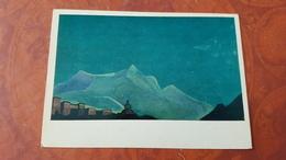 "Nicholas Roerich - ""KING'S MONASTERY"" -  HIMALAYA - Tibet -  - Old USSR PC 1974 - Tibet"