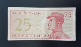 RS - Indonesia 25 Sen Banknote 1964 #CVV050936 - Indonesien