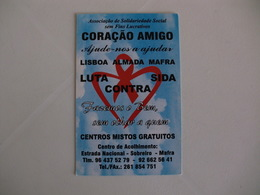Aids Sida Portugal Portuguese Pocket Calendar 2012 - Calendriers