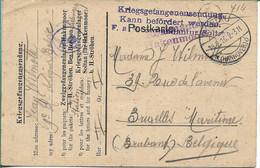 Prisoner Of War. Belgium Soltau Kriegsgefangene Sendung - Militaria
