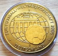 Allemagne. Médaille Doré Or Fin Football Coupe Du Monde 2006 Allemagne. Neuve - Zonder Classificatie