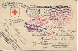 Prisoner Of War. Belgium Soltau Kriegsgefangene Sendung Rode Kruis - Militaria