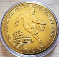 Allemagne. Médaille Doré Or Fin Football Coupe Du Monde 2006 Italie. Neuve - Zonder Classificatie