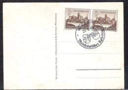 DEUTSCHLAND Propagandakarte Mainfränkischer Opfertag 1940 Spezial Stempel Würzburg - Deutschland