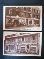 Onival Sur Mer. 2 Cpa. Café Du Roi De Rome. Aux Dames De France. - Onival