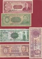 Paraguay 5 Billets Dans L 'état - Paraguay