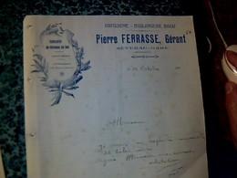 Facture  Pâtisserie Boulangerie Bigou Gâteaux De Roi PierreFerrasse  Gérant à Séverac -gare AVEYRON 192? - France