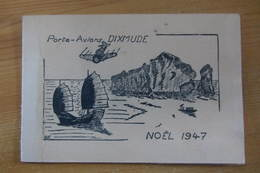 Carte De Vœux Du Porte-avions DIXMUDE (1947) - Documents