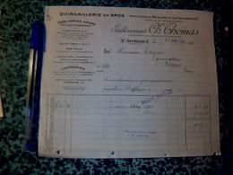 Facture  Saint Afrique  (Aveyron ) Quincaillerie Charbon CHARLES Thomas  1926 - Autres