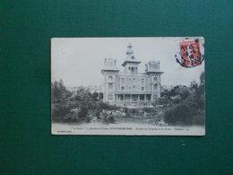 CPA FONTAINEBLEAU BOULEVARD THIERS 7 LA FORET FACADE SUR JARDIN ET FORET 1919 EXC ETAT - Fontainebleau