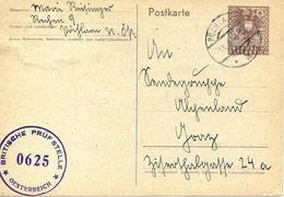 Censure Britannique Sur Entier Postal De Pöchlarn 1946 - 1945-60 Lettres