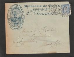 """Lettre De DREUX Avec Belle Publicité Illustrée Pour La Brasserie """" La Normande"""" C. WEINMANN.. - Autres"""