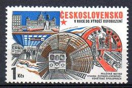 TCHECOSLOVAQUIE. N°2130 De 1975. Métro De Prague. - Strassenbahnen
