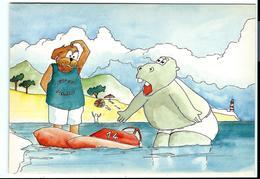 """HIPPOPOTAME PÉDALO - Carte De La Série Humoristique """"imaginez Votre Gag"""" - Années 70 - VENTE DIRECTE X - Hippopotamuses"""
