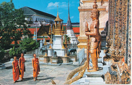 Thailand Postcard Sent To Denmark 1987 (A Part Of Wat Phra Kea)) - Tailandia