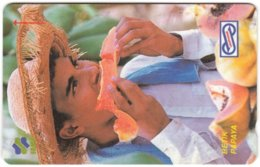MALAYSIA A-932 Magnetic Uniphonekad - Food, Fruit - 28MSAC - Used - Malesia