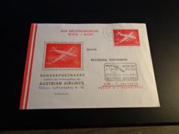 FC2527 - Austrian Airlines 1958 - Eroffnungsfluf Wien-Rom - AUA-Erstflüge