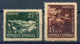 ESPAÑA   2ª  Republica   Nº 787 / 8   Charnela -1095 - 1931-50 Nuevos & Fijasellos