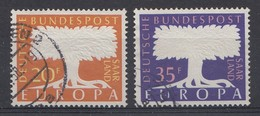 Allemagne 1957  Mi.Nr: Saarland Sarre 402-403  Europa  Oblitèré / Used / Gebruikt - BRD